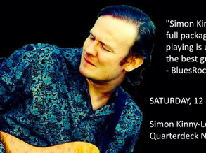 The Quarterdeck presents: Simon Kinny-Lewis Sat December 12th