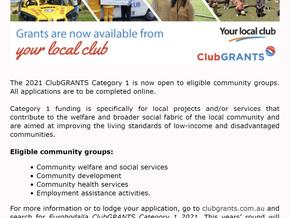 Eurobodalla ClubGRANTS NOW OPEN