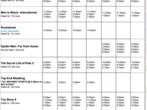 Perry Street Cinemas program Jun 27th to July 3rd