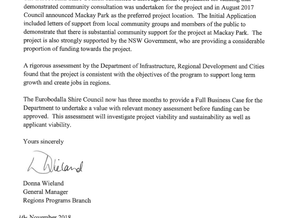 Time for Council to come clean on Mackay Park Business Plan