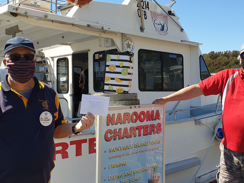 Rotary Whale Watch Raffle supports Support Group