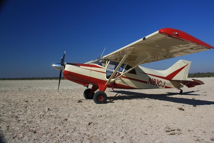 N81CJ on Kamodzi Pan, Botswana, June 2010