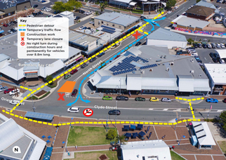 Changed traffic conditions in North Street and Clyde Street Batemans Bay