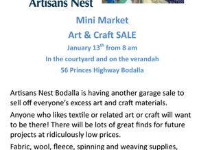 Artisans Nest Mini Market Jan 13th