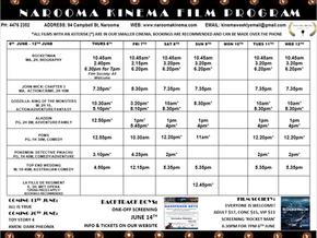 Narooma Kinema program June 6th to 12th