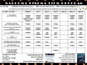Narooma Kinema program June 6th to 12th