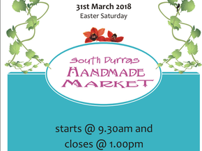 South Durras Handmade Market - Easter Saturday 31 March 2018 - 9.30am till 1pm