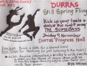 Still Spring Durras Fling - Fri 9th November - Durras Hall - 'The Somedays'