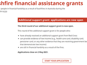Red Cross offers additional bushfire grants for people in severe financial hardship