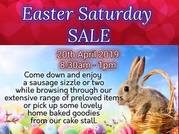 Rally for Recovery Giant Easter Sale Sat 20th Apr