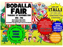 Bodalla Fair this Thursday Nov 1st