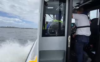Marine Rescue Tuross rescue vessel TU 21 sea trials begin