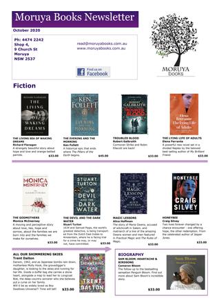 Moruya Books - October Newsletter