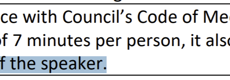 Is Council making up their own rules to close down public forum questions from councillors