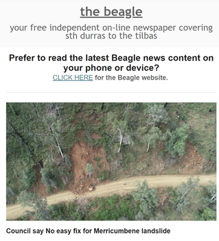 Your mid week edition of Beagle local news is OUT NOW ; May 12th 2021