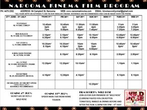 Narooma Kinema program June 27th to July 3rd