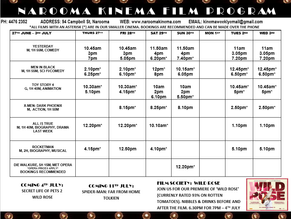 Narooma Kinema program June 27th to July 3rd