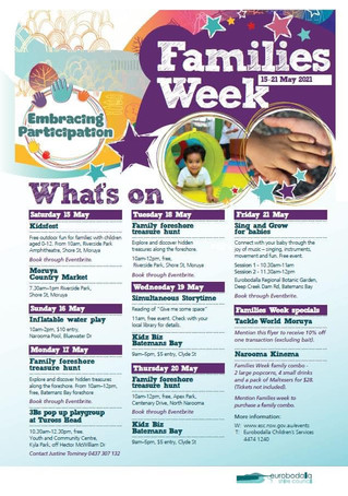 National Families week in the Eurobodalla