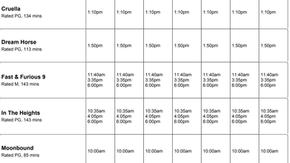 Perry Street Cinemas program Jul 1 to Jul 7th