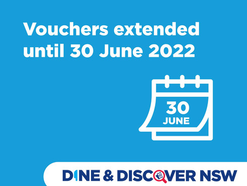 Dine & Discover NSW vouchers extended to 30 June 2022