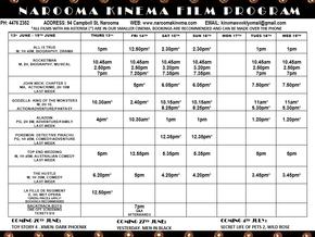 Narooma Kinema Program June 13th to 19th