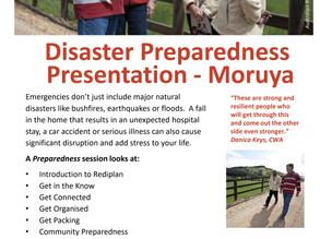 Red Cross Disaster Preparedness workshop Moruya - book now