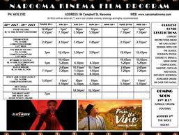 Narooma Kinema program July 21st 2021