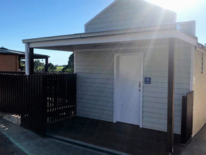 Disabled toilets at Tilba not finished in time for Festival - temp one in place