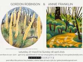 Gallery Bodalla: Gordon Robinson and Annie Franklin March 27th to April 18th