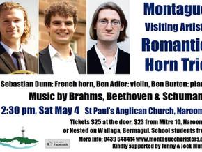 Narooma: Romantic Horn Trio - 2:30 pm, Sat May 4