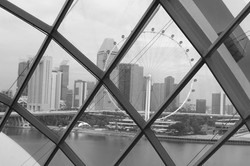 Singapore from a glasshouse by Jeanette