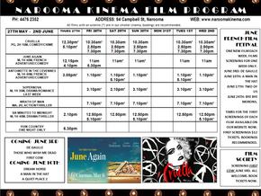 Narooma Kinema Program May 27th to June 2nd