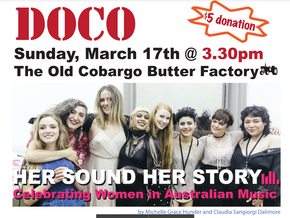 Cobargo Docos present: Her Sound Her Story - Celebrating Women in Australian Music on Mar 17th
