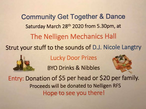 Nelligen Community Dance March 28th