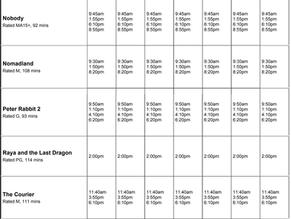 Perry Street Cinemas program Apr 1 to 7