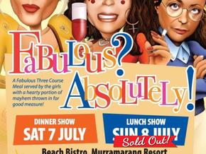 AbFab Comedy Dining Night at Murramarang Resort July 7th