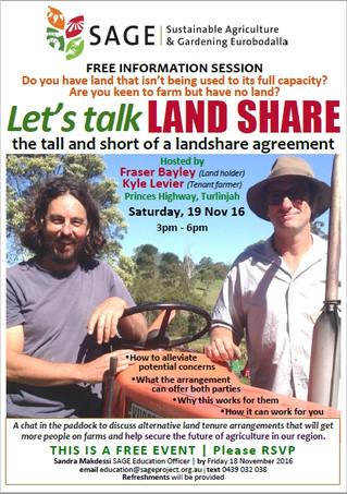 Let's Talk Land Share - SAGE - Nov 19th