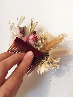 peigne fleuri (dos)
