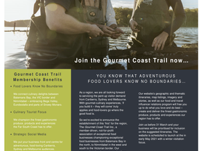 The Gourmet Coast Trail : Membership now Open