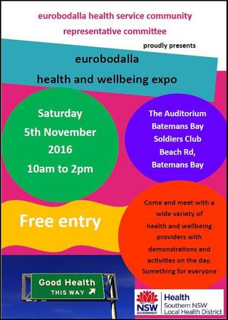 Eurobodalla Health and Wellbeing Expo - Nov 5th