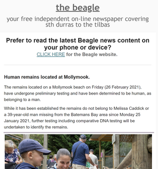 Your midweek edition of the Beagle local news is OUT NOW