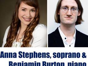 Montague Visiting Artists - Anna Stephens, soprano, and Benjamin Burton Feb 20th