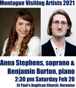 Montague Visiting Artists - Anna Stephens, soprano, and Benjamin Burton Feb 20th