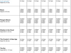 Perry Street Cinemas program Jan 21 to 27