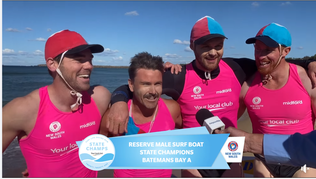 Bay crews do well at  2021 NSW Open Surf Boats Championships