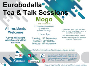 Eurobodalla Tea and Talk - Mogo