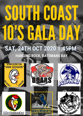 South Coast Rugby Union 10's Gala Day this Saturday