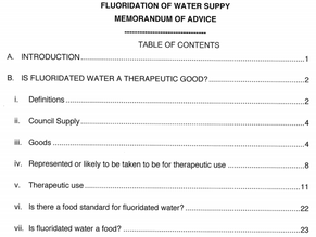 Are Councils in breach of the law for fluoridating water - have a read of this