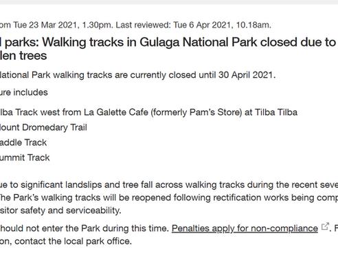 Injured Bushwalker retrieved from top of closed Gulaga walking trail