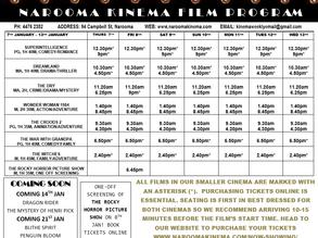 Narooma Kinema program Jan 7th to 13th